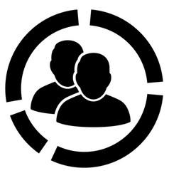 User diagram flat icon vector