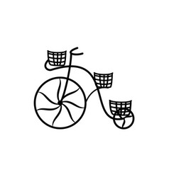 vintage bycicle silhouette vector image