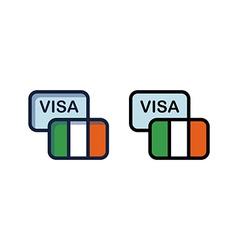 Visa to Ireland vector image