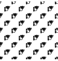 Wall lamp pattern vector