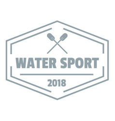 water sport logo simple gray style vector image
