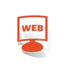 WEB monitor sticker orange vector