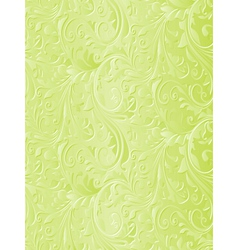Beautiful green floral background vector image vector image