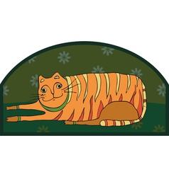 Big Striped Cat vector image