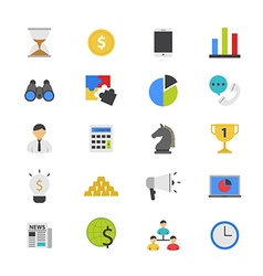 Business and Finance Strategy Flat Color Icons vector image vector image