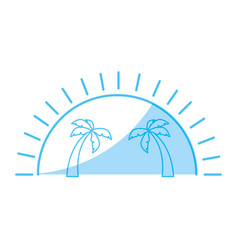 island tree palms vector image vector image