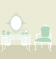 makeup room vintage vector image