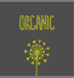 organic hand drawn label healthy diet and vector image vector image