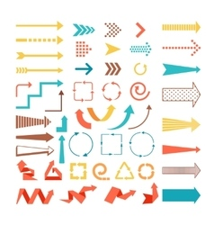 Arrows and directions signs vector image