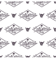 california surfing monochrome seamless pattern vector image vector image