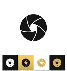 Camera shutter or photography diaphragm vector image