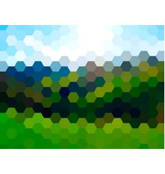 defocused summer landscape background vector image vector image
