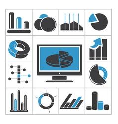 Diagrams icons vector image vector image