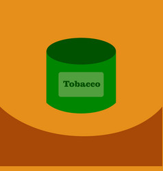 Flat icon with dark shadow tobacco for shisha in vector