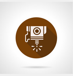 high precision cnc laser flat round icon vector image vector image