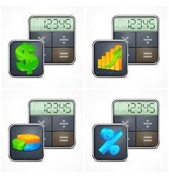 Calculators finance symbols vector image vector image