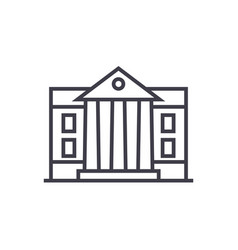 museumparliament line icon sign vector image