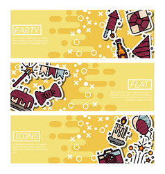 set of horizontal banners about party vector image