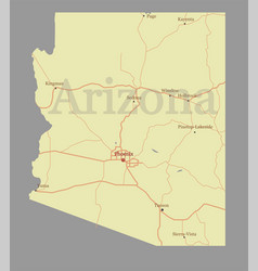 arizona state map with community assistance vector image vector image