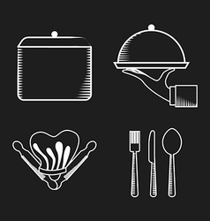 chalkboard menu vector image