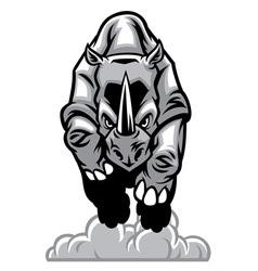 charging rhino vector image vector image