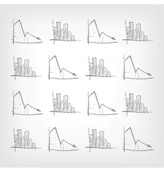 Graph Down vector image