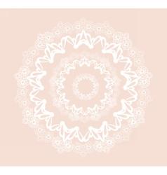 Round ornamental lace crochet vector image