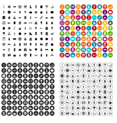 100 healthy lifestyle icons set variant vector image