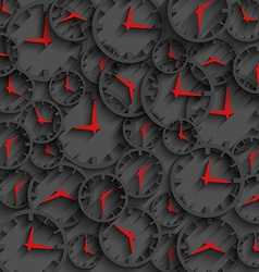 3D clock abstract time concept dark background vector image