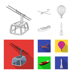 A drone a glider a balloon a transportation vector