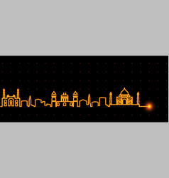 agra light streak skyline vector image