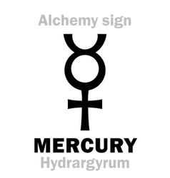Alchemy mercury hydrargyrum vector