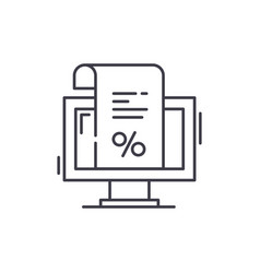 an invoice for payment line icon concept an vector image