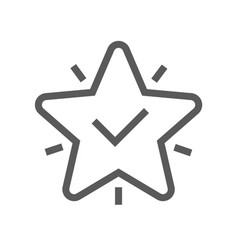 Approve line icon editable stroke vector