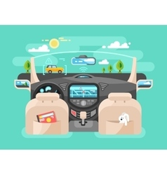 Automobile computer assistent vector image