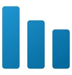 Bar Chart Decrease Gradient Icon vector image