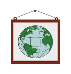 Billboard globe earth map poster icon vector
