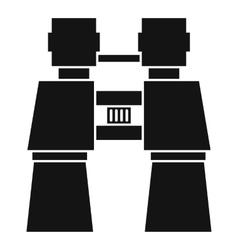 Binocular icon simple style vector