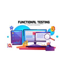 cartoon banner function test vector image