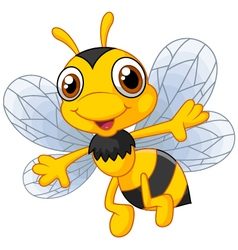 Cartoon cute bees vector