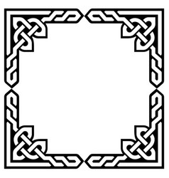 celtic frame or border greeting card design vector image