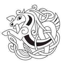 Celtic horse vector