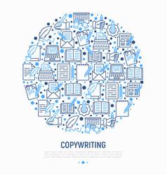 Copywriting concept in circle vector