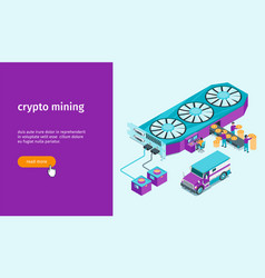 cryptocurrency mining banner 01 vector image