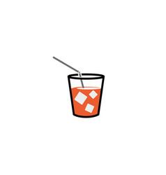 cup juice logo vector image