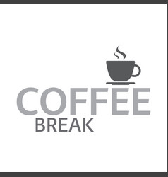 Cup of coffee coffee break logotype vector