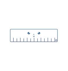 Degraded line kawaii nice ruler school utensil vector
