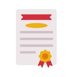 Diploma certificate or appreciation school vector