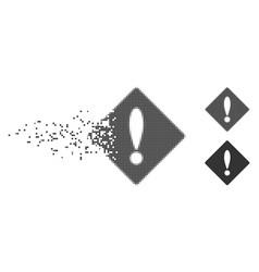 Disintegrating pixel halftone error icon vector
