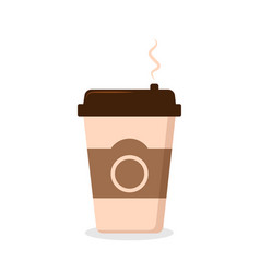 disposable coffee cup on white vector image